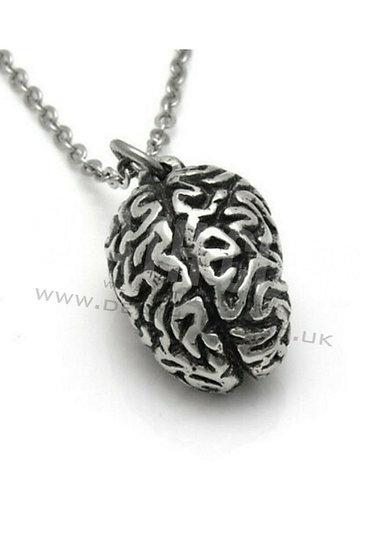 A anotomically correct brain necklace