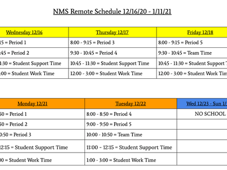 NMS Remote Schedule
