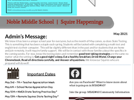 May Squire Happenings Newsletter