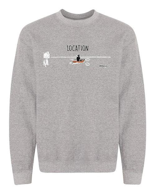 Kayak Sweatshirt - Your Location