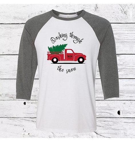 Christmas Baseball Style Shirt