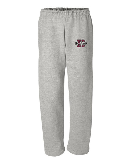 Open Bottom Sweatpants w/ Pockets