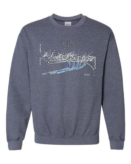 Fly Fisherman Sweatshirt - Your Location