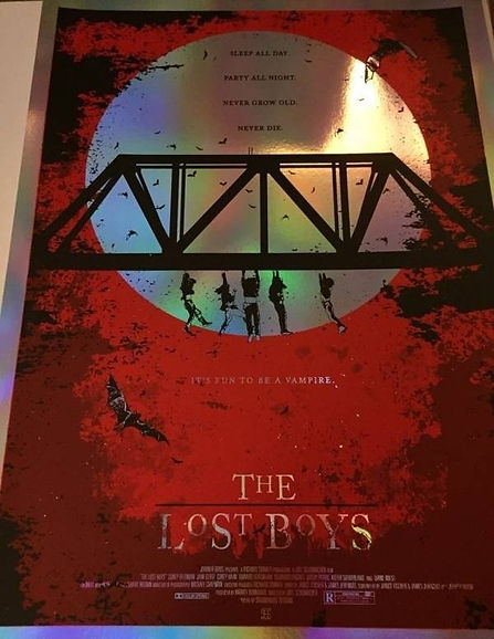 The Lost Boys Print Studiohouse Designs Kevin Thomas Red Foil