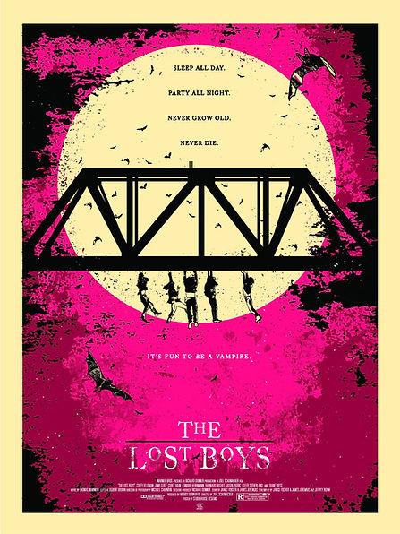 The Lost Boys Print Studiohouse Designs Kevin Thomas GID Pink & Tan