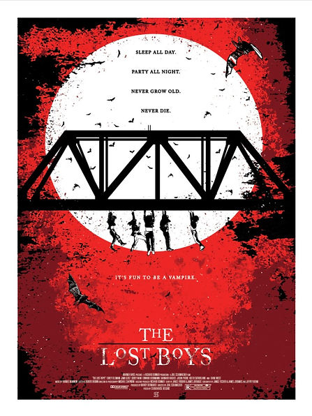 The Lost Boys Print Studiohouse Designs Kevin Thomas Red Variant
