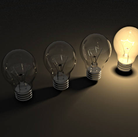 Brillante idea lampadina