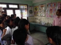 理科室で初めての授業