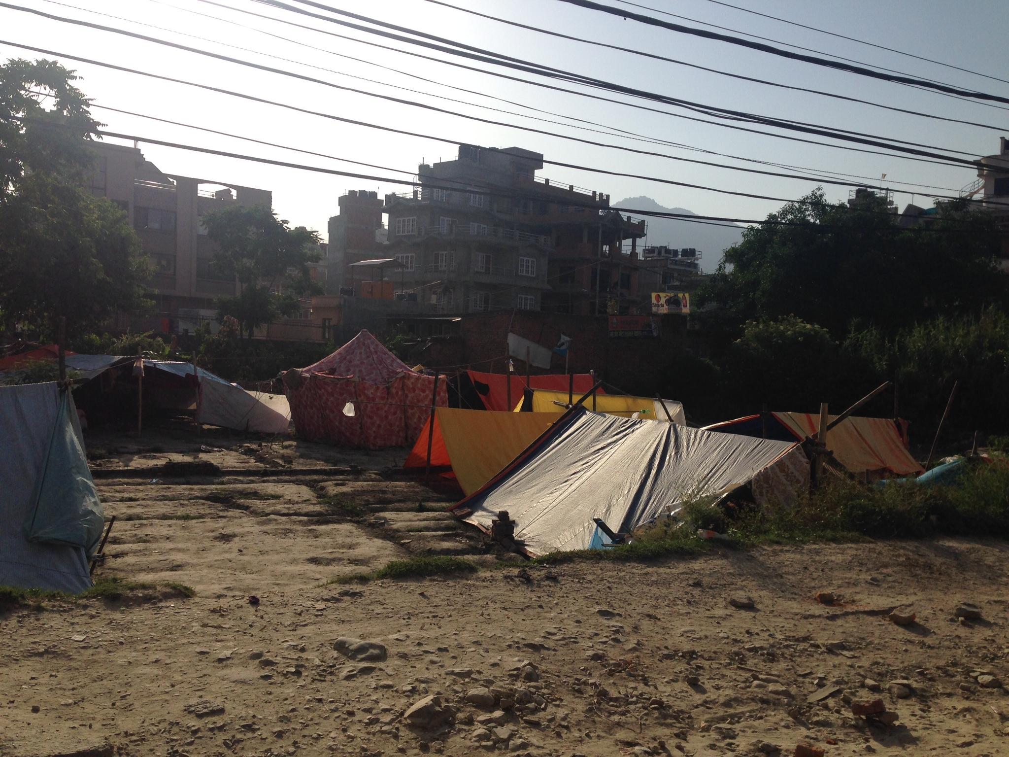 2015年4月の大地震による避難の様子