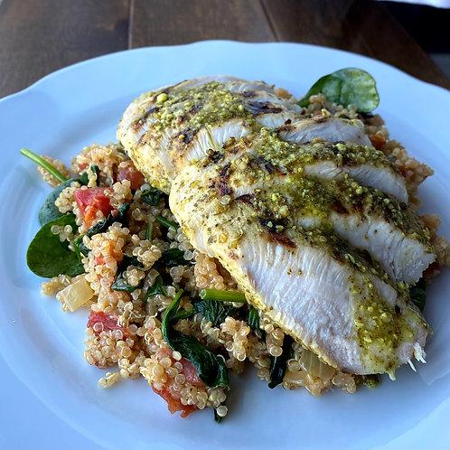 Pesto Chicken & Quinoa (Serv1) (GF)