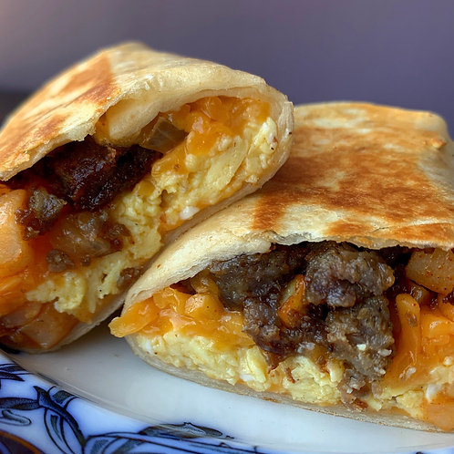 Potato, Sausage, Egg & Cheese Breakfast Wrap (Serv 1)