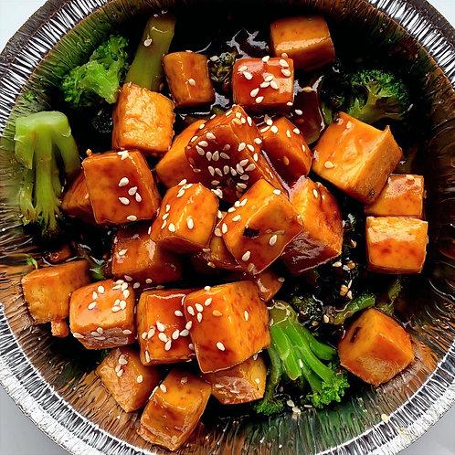 Sesame Tofu and Broccoli (Vegan) (Serv1)