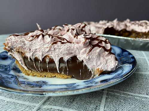Milk Chocolate Strawberry Meringue Pie Slice