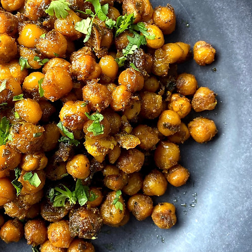 Curry Roasted Chickpeas (Serv1) (V/GF)