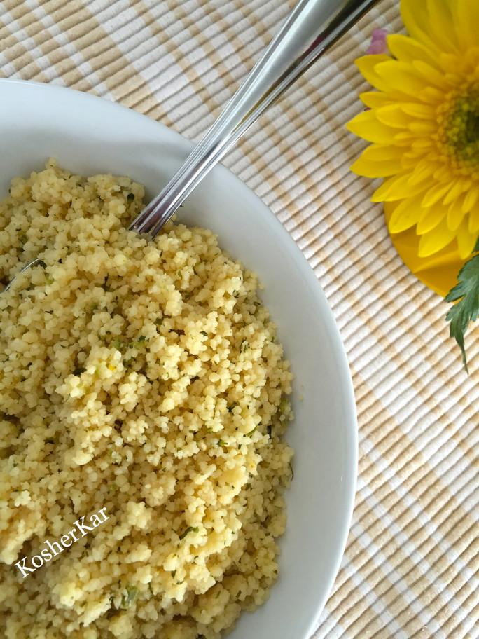 five-minute broccoli & cheddar couscous