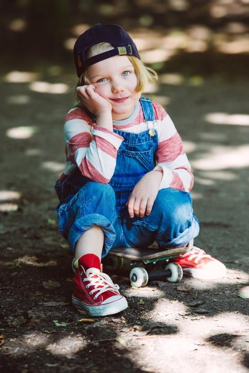 Mädchen Skateboard Fotoshooting