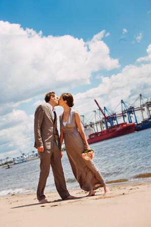 Küssen an der Elbe