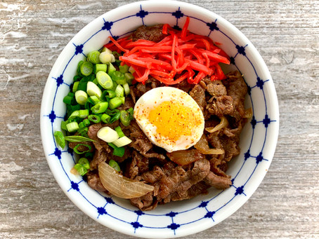 Gyudon - Japanese Beef Bowls