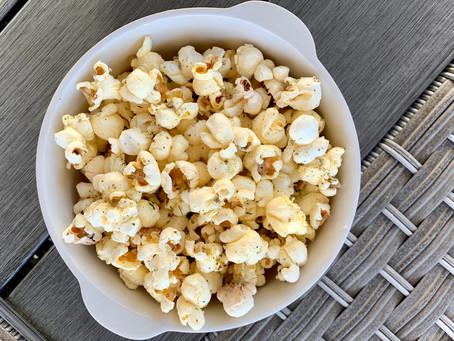 Garlic Herb Parmesan Popcorn