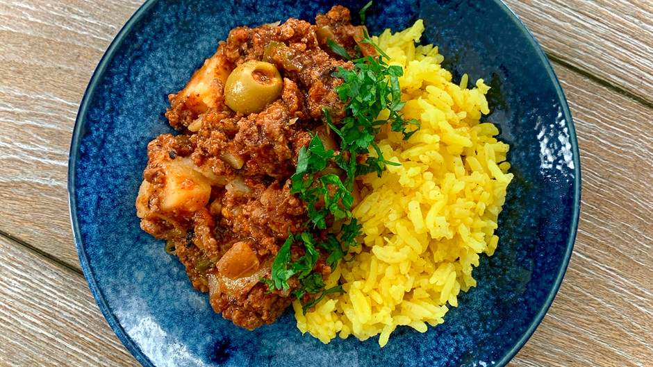 Quick Picadillo & Golden Rice