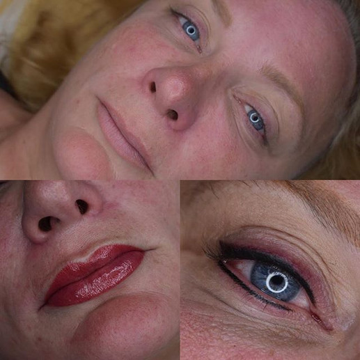 Stardust eyeliner and Aquarelle Lips tod