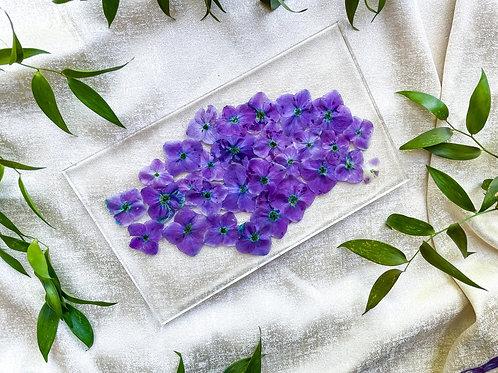 Flower Fest Purple Hydrangeas Flat Tray