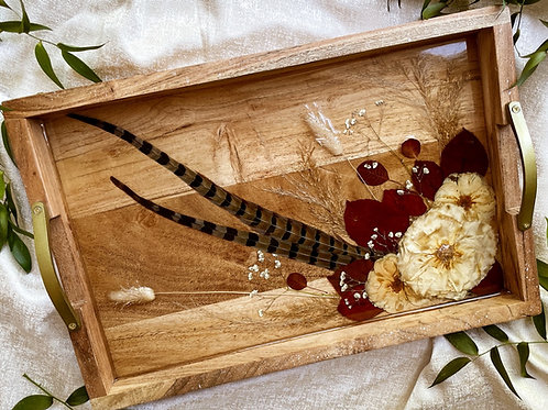 Fall Themed Wood & Acrylic Tray