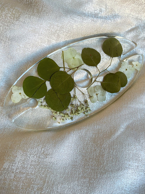 Wine Bottle 2 Glass Rack Eucalyptus & White Hydrangeas