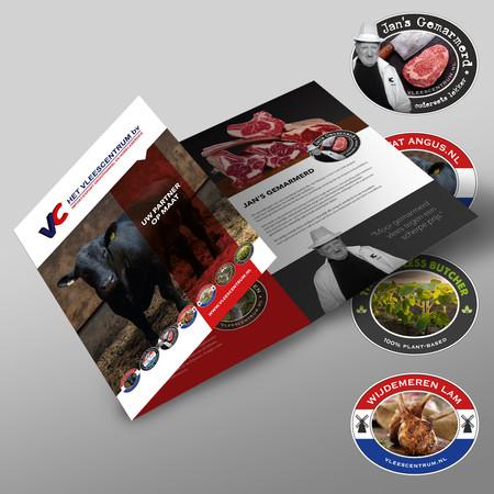 Brochure en logo's Vleescentrum Soest