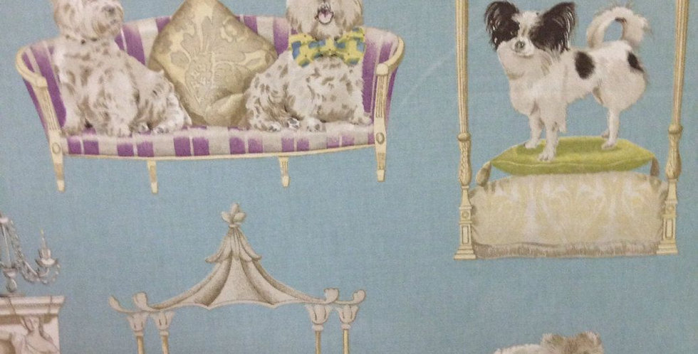 Pampered Dogs - Home Decor Fabric - Fun Fabric