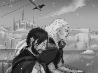 Book 3 Cover Sketch Reveal--and Call for NecroSeam ARC Readers