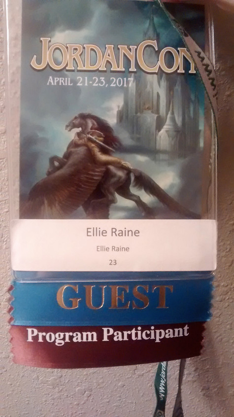 Ellie Raine's guest badge!