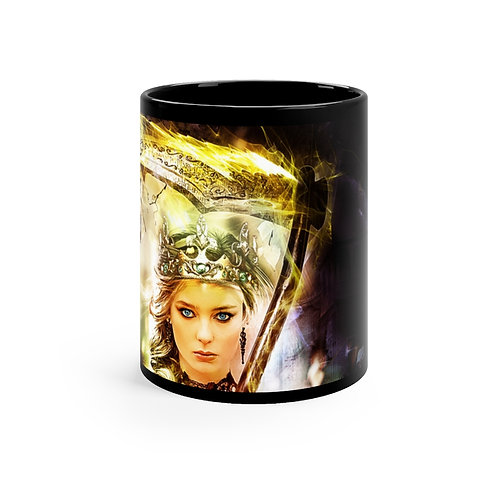 Blossom of Gold Black mug 11oz