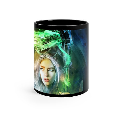 Pearl of Emerald Black mug 11oz