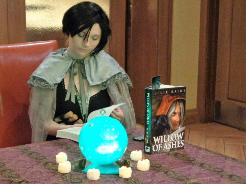 Ellie Raine at her public reading