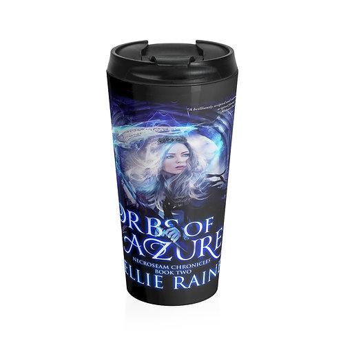 Orbs of Azure Stainless Steel Travel Mug