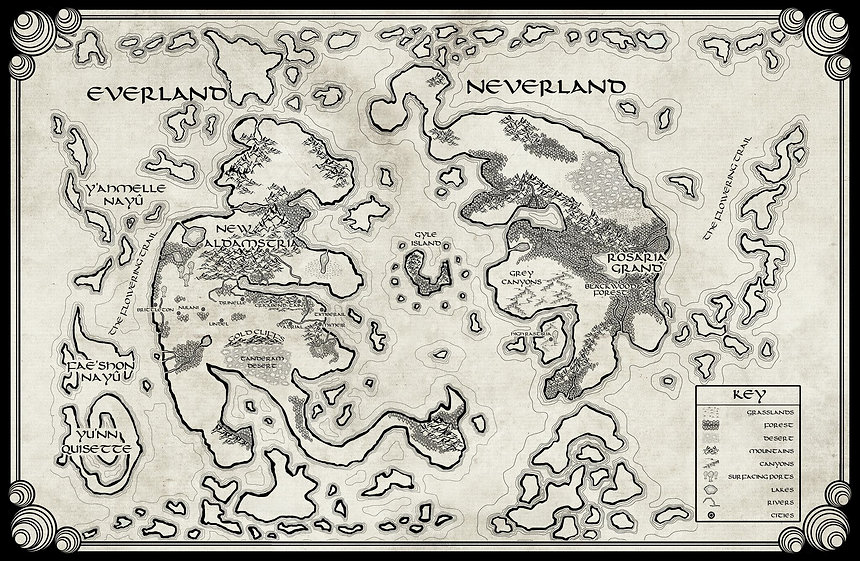 Map of Everland: Art by Chris Seckinger