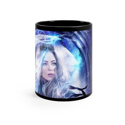 Orbs of Azure Black mug 11oz