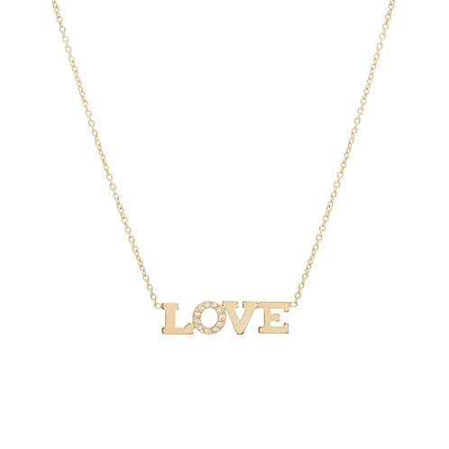 Pave Diamond Love Necklace by Zoe Chicco