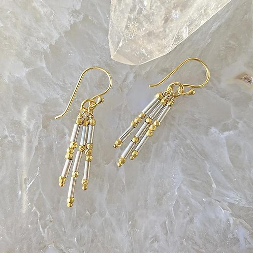 Shimmering Fringe Earrings by Robindra Unsworth