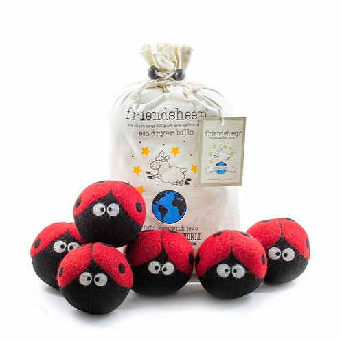 Lady Bug Dryer Balls