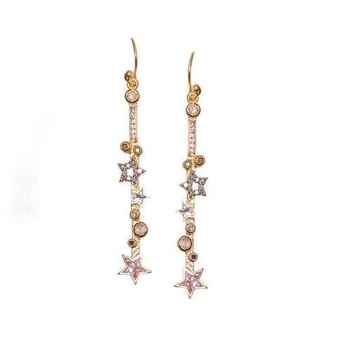 18k Gold Vermeil & Diamond Orion Earrings