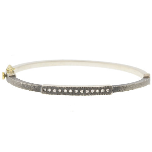 Diana Bangle in Silver by Rene Escobar