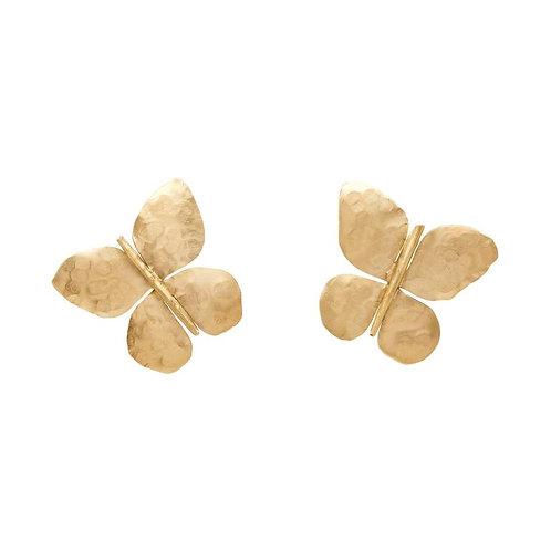 Large Butterfly Bronze Earring by Julie Cohn