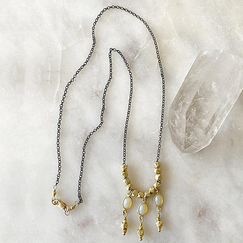 Ethiopian Opal Gypsy Necklace by Robindira Unsworth
