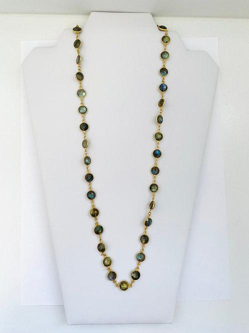 22k Gold Vermeil, Labradorite Necklace Robindira Unsworth