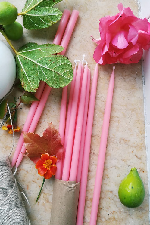 Greentree Candles in Pink - Set of 10