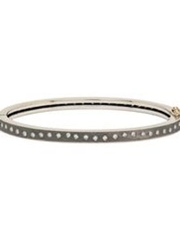 Sterling Silver Thin Bracelet by Rene Escobar