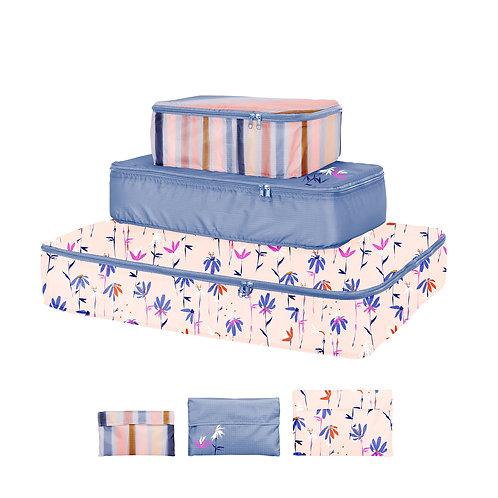 Indigo Dreams Set of Packing Cubes