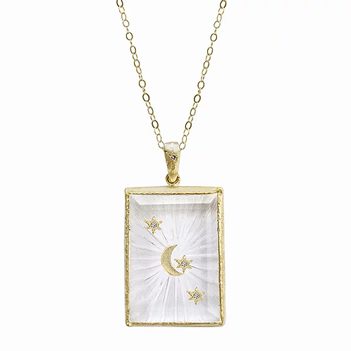 14K Tag Amulet Necklace by Acanthus